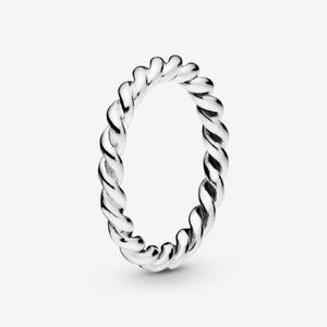 Pandora Twist Swirling Band Ring